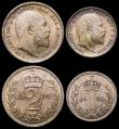 London Coins : A168 : Lot 2234 : Maundy Set 1904 ESC 2520 UNC with matching light toning