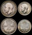 London Coins : A168 : Lot 2237 : Maundy Set 1919 ESC 2536 UNC or near so with a pleasing and matching blue and grey toning