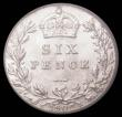 London Coins : A168 : Lot 2328 : Sixpence 1902 ESC 1785, Bull 3597, Choice UNC and lustrous,  in an LCGS holder and graded LCGS 82, E...