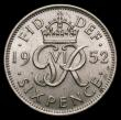 London Coins : A168 : Lot 2338 : Sixpence 1952 ESC 1838 F, Bull 4266  Unc and graded 78 by CGS