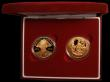 London Coins : A168 : Lot 425 : Five Pound Crown in Gold (2) a two-coin set 2005 Nelson and Trafalgar Gold Proofs FDC cased as issue...