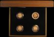 London Coins : A168 : Lot 463 : One Pound a 4-coin set in gold 2010-2011 comprising 2010 London S.J28, 2010 Belfast S.J29, 2011 Edin...