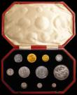 London Coins : A168 : Lot 469 : Proof Set 1902 Matt Proof Short set (11 coins) an assembled set comprising Sovereign 1902 in an LCGS...