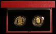 London Coins : A168 : Lot 635 : Alderney and Guernsey two coin Twenty Five Pounds Gold Proof Set 1999 Winston Churchill FDC cased as...
