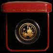 London Coins : A168 : Lot 672 : Gibraltar Gold Halfcrown 2002 Queen Elizabeth II Golden Jubilee 24 carat gold Proof with Sapphire, R...