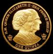London Coins : A168 : Lot 673 : Gibraltar Guinea 2016 Queen Elizabeth II 90th Birthday/Prince Philip 95th Birthday Gold Proof nFDC w...