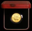 London Coins : A168 : Lot 683 : Hong Kong $1000 1980 Lunar Year of the Monkey in Gold KM#47 Lustrous UNC in the red box of issue wit...