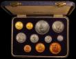 London Coins : A168 : Lot 708 : South Africa Proof Set 1952 (11 coins) KM#PS24 Gold Pound, Gold Half Pound and Crown to Farthing UNC...