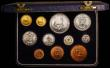 London Coins : A168 : Lot 710 : South Africa Proof Set 1954 (11 coins) KM#PS29 Gold Pound, Gold Half Pound and Crown to Farthing, nF...