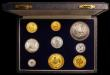 London Coins : A168 : Lot 712 : South Africa Proof Set 1961 (9 coins) Gold Two Rand, Gold One Rand, and 50 Cents to Half Cent KM#PS5...