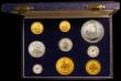 London Coins : A168 : Lot 713 : South Africa Proof Set 1964 (9 coins) 2 Rand to Half Cent includes the Gold 2 Rand and Gold 1 Rand i...