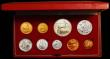 London Coins : A168 : Lot 714 : South Africa Proof Set 1967 (9 coins) 2 Rand to 1 Cent, includes the Gold 2 Rand and Gold 1 Rand iss...