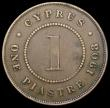 London Coins : A168 : Lot 766 : Cyprus One Piastre 1908 KM#12 Near Fine/Fine, a Rare one-year type with a mintage of just 27,000 pie...