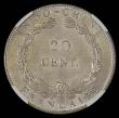 London Coins : A168 : Lot 775 : French Indo-China 20 Cents 1920 without Fineness indicated KM#15, UNC and lustrous, in an NGC holder...