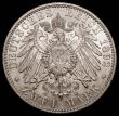 London Coins : A168 : Lot 787 : German States - Saxe-Weimar-Eisenach 2 Marks 1892A Carl Alexander Golden Wedding Y#212UNC and lustro...