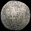 London Coins : A168 : Lot 822 : Netherlands - Holland 28 Stuivers countermarked coinage of 1693, KM#69.16, with HOL countermark on O...