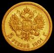 London Coins : A168 : Lot 838 : Russia 5 Roubles Gold 1901 ф3 Y#62 VF the reverse slightly better