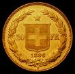 London Coins : A168 : Lot 865 : Switzerland 20 Francs 1896B KM31.3 EF or better reverse prooflike