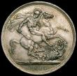 London Coins : A169 : Lot 1317 : Crown 1900 LXIII ESC 318, Bull 2608, Davies 533 dies 3E, a sharply struck and crisp example of the V...