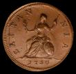 London Coins : A169 : Lot 1355 : Farthing 1730 Peck 854 in an LCGS holder and graded LCGS 82, a superb piece with the King's por...