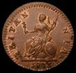 London Coins : A169 : Lot 1358 : Farthing 1773 Obverse 2, with Large 77 in the date Peck 913 variant, LCGS variety 08, a high grade e...