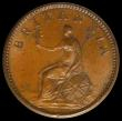 London Coins : A169 : Lot 1364 : Farthing 1806 Incuse Dot on truncation Peck 1398 an attractively toned piece with hints of mint lust...