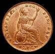 London Coins : A169 : Lot 1388 : Farthing 1853 WW Raised, 3 over 2 in date, a most attractive example, nicely toned with traces of lu...