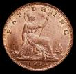 London Coins : A169 : Lot 1413 : Farthing 1881 Freeman 546 dies 7+C an extremely attractive example with around 25% mint lustre, in a...