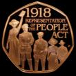London Coins : A169 : Lot 1430 : Fifty Pence 2018 100th Anniversary of the Peoples Act S.H48 Gold Proof nFDC/FDC the obverse with sma...
