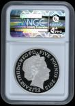 London Coins : A169 : Lot 1436 : Five Pound Crown 2015 50th Anniversary of the Death of Sir Winston Churchill Silver Proof Piedfort S...