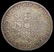 London Coins : A169 : Lot 1541 : Halfcrown 1677 ESC 479 VG/Fine nicely toned, comes with old collector's ticket stating ' E...