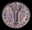 London Coins : A169 : Lot 1639 : Maundy Penny 1757 Colon after GRATIA ESC 2349, Bull 1839 NEF/GVF the obverse with some dirt in the o...