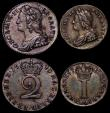 London Coins : A169 : Lot 1640 : Maundy Set 1740 ESC 2408, Bull 1771 comprising Fourpence 1740 ESC 1904, Bull 1782 About EF with ligh...