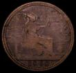 London Coins : A169 : Lot 1680 : Penny 1860 Beaded Border Gouby Obverse A or B (R and E of REG are touching at their bases, the minor...