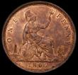 London Coins : A169 : Lot 1682 : Penny 1862 Freeman 39 dies 6+G UNC and lustrous the lustre slightly uneven on the obverse