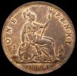 London Coins : A169 : Lot 1694 : Penny 1894 Freeman 138 dies 12+N GEF with traces of lustre