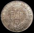 London Coins : A169 : Lot 1762 : Shilling 1893 Small Obverse Letters ESC 1361A, Bull 3154, Davies 1010 dies 1A, UNC with a hint of to...