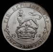London Coins : A169 : Lot 1775 : Shilling 1918 ESC 1428, Bull 3807 almost fully lustrous, the obverse with good strike, the reverse w...