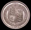 London Coins : A169 : Lot 1820 : Sixpence 1887 Jubilee Head Withdrawn type, R over V in VICTORIA Bull 3274, Davies 1153 UNC/AU and lu...