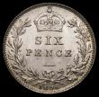 London Coins : A169 : Lot 1825 : Sixpence 1896 ESC 1766, Bull 3289, A mint example and almost fully lustrous, in an LCGS holder and g...