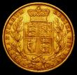 London Coins : A169 : Lot 1863 : Sovereign 1857 1 over lower 1 in date, as Marsh 40 Fine/Good Fine in a Westminster box