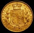 London Coins : A169 : Lot 1872 : Sovereign 1871 Shield Reverse Marsh 55, Die Number 48, EF/GEF and lustrous with a striking flaw on t...