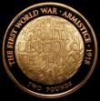 London Coins : A169 : Lot 2002 : Two Pounds 2018 First World War Armistice Gold Proof S.K49 FDC uncased in capsule