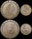 London Coins : A169 : Lot 2019 : Crowns (3) 1890 Fine, 1896LX Fine, 1935 GVF/NEF, Twopence 1797 NVF the reverse with some scratches, ...
