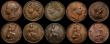 London Coins : A169 : Lot 2040 : Farthings in LCGS holders (9) 1806 First Portrait Peck 1396 A/UNC, graded LCGS 75. 1806 Second Portr...