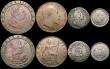 London Coins : A169 : Lot 2046 : Florins to Penny a small group (9) Florins (2) 1849, 1887 Jubilee Head, Shillings (3) 1697 Third Bus...