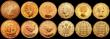 London Coins : A169 : Lot 2093 : Proof Issues (11) Crown 1953, Brass Threepences (3) 1950, 1953, 1970, Pennies (2) 1953, 1970, Halfpe...
