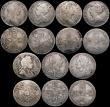 London Coins : A169 : Lot 2098 : Shillings (14) 1696 First Bust VG/Fine, 1697 First Bust approaching Fine, 1697B VG/NF with some scra...