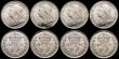 London Coins : A169 : Lot 2110 : Silver Threepences (8) 1897 (4), 1898, 1910, 1914 all lustrous UNC one of the 1897 coins with a smal...