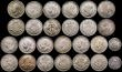 London Coins : A169 : Lot 2112 : Sixpences (10) 1705 Plumes Near VF with some scratches, 1757 Good Fine, 1818 GVF, 1834 Fine, 1902 (2...